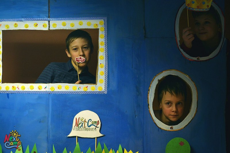 Фото: дети в лагере